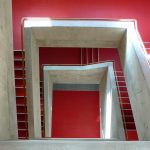 5 Stairwell with red resin floor